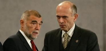 With Croatian President Mesić (October 2005)