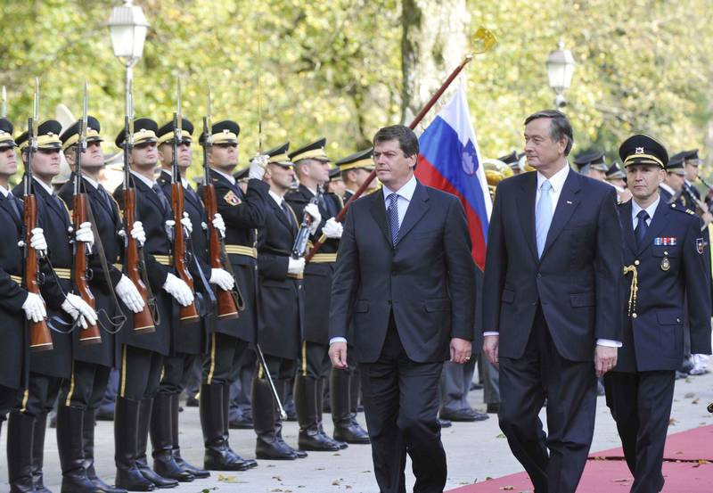 president of the republic of slovenia albanian president on