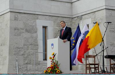 President of the Republic of Slovenia, Dr Danilo Türk, attended the All-Slovenian Meeting for Peace on the occasion of the International Day of Peace (photo: Daniel Novakovič/STA)