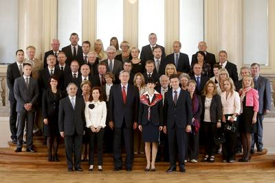 The President of the Republic of Slovenia, Dr Danilo Türk, hosted a reception for the Members of the European Court of Auditors (ECA) (photo: Stanko Gruden/STA)